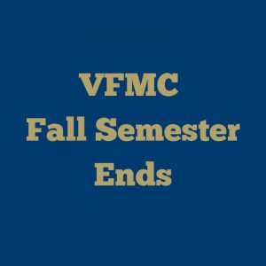 Fall Semester Ends