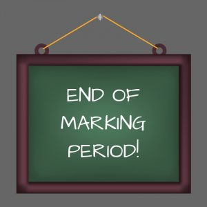 1st Marking Period Ends