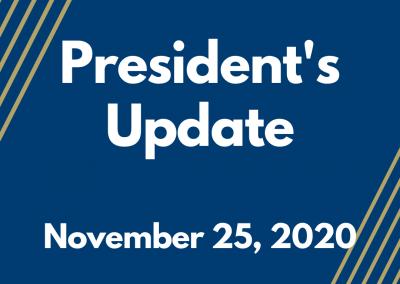 President's Update- 11.25.2020